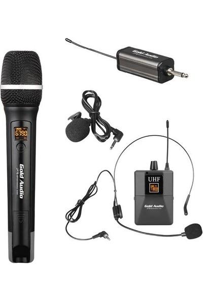 Gold Audio GX-732EY El-Yaka-Headset Uhf Wireless Mikrofon