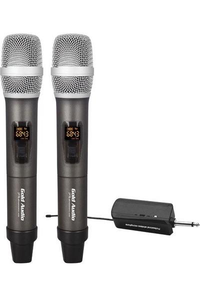 Gold Audio GX-832EE Uhf Çift El Wireless Telsiz Mikrofon