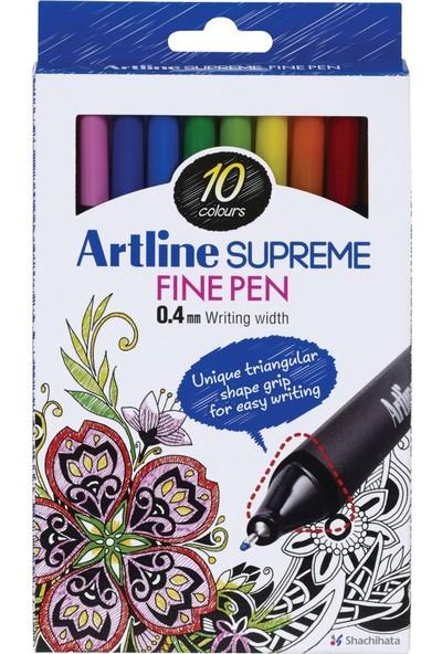 Artline Fineliner 0.4 mm Kalem Seti 10'lu