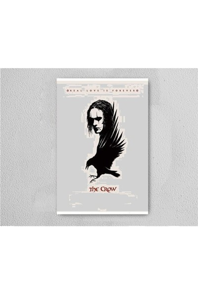 Walldeco The Crow Retro Vintage Ahşap Poster Tablo
