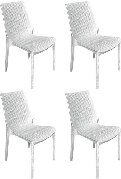 Romanoset Romans Rattan Kolsuz Sandalye 4 Lü Set