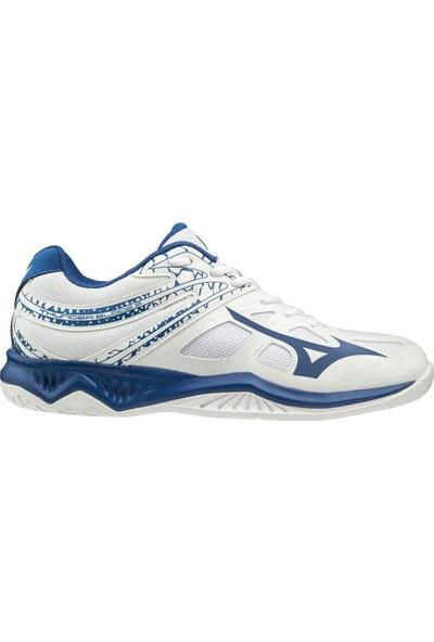 Mizuno Thunder Blade 2 Unisex Voleybol Ayakkabısı Beyaz / Mavi