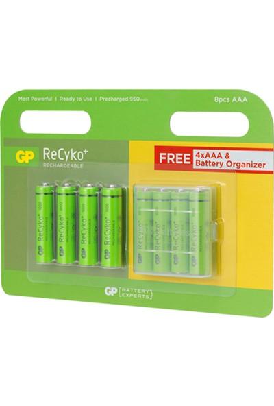 Gp 2700 AA Boy Şarjlı Kalem Pil 4'lü Paket + 1000 AAA Boy Şarjlı İnce Pil 8'li Paket