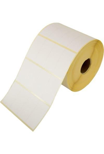 Barcodex 20 mm x 40 mm 5'li Kuşe Etiket 5000 Adet