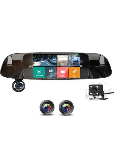 "Nargo Kingboss 5"" Full Hd 3 Kameralı Dokunmatik Ayna Araç Kamerası"