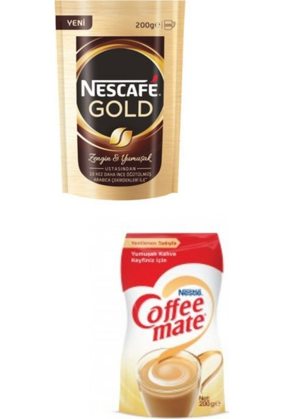 Nestle Nescafe Gold 200 Gr+ Coffe Mate 200 gr