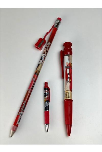 Cem Cars Jumbo Kalem Seti / Jumbo Boy Kalemtraşlı Kurşun Kalem - 0.7 Uçlu Kalem - Jumbo Tükenmez Kalem