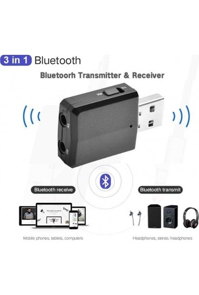 OEM Bluetooth Stereo Ses Müzik Alıcı/verici 2'si 1 Arada Adaptör