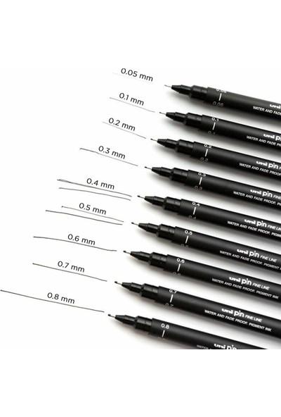 Uni-Ball Pin 200 Teknik Çizim Kalemi Siyah 9'lu