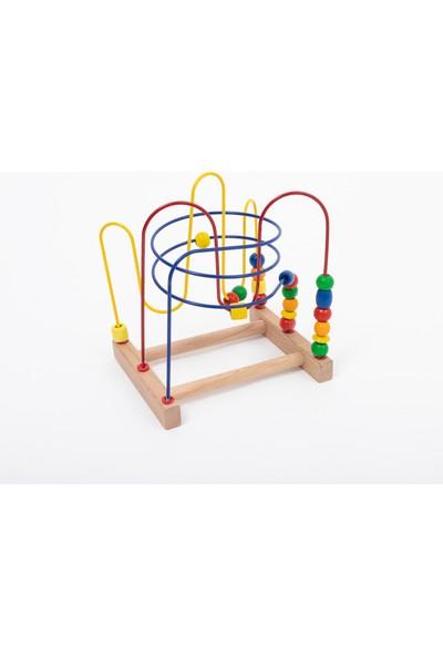 Capioz Ahşap Oyuncak 5'li Gelişim Set Abaküs + Büyük Koordinasyon + 5'li Puzzle + Ksilofon + Tak Çak