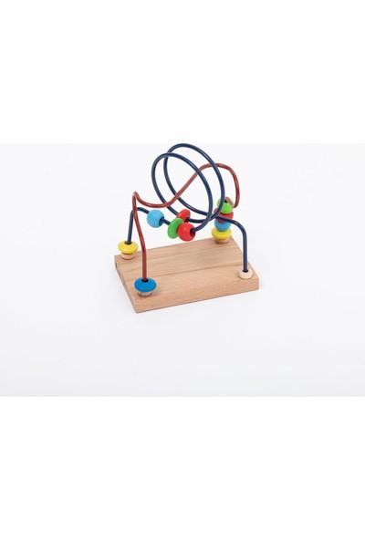 Capioz Ahşap 6'lı Oyuncak Seti Abaküs + Mini ve Büyük Koordinasyon + 5'li Puzzle + Ksilofon +Tak Çak
