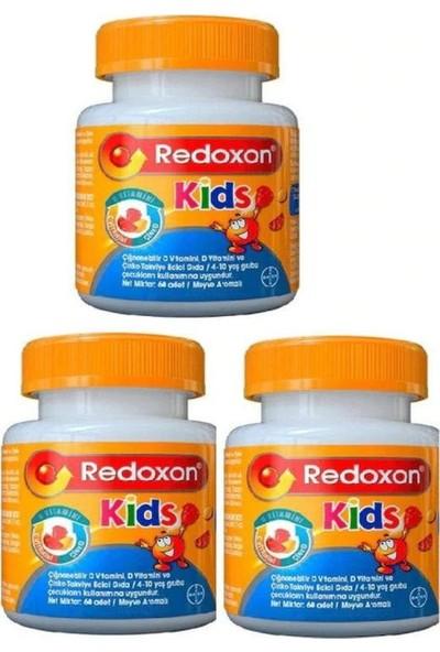 Redoxon Kids 3 Adet (Çiğnenebilir C-D Vitaminleri ve Çinko Içeren Gıda Takviyesi) 60 Adet