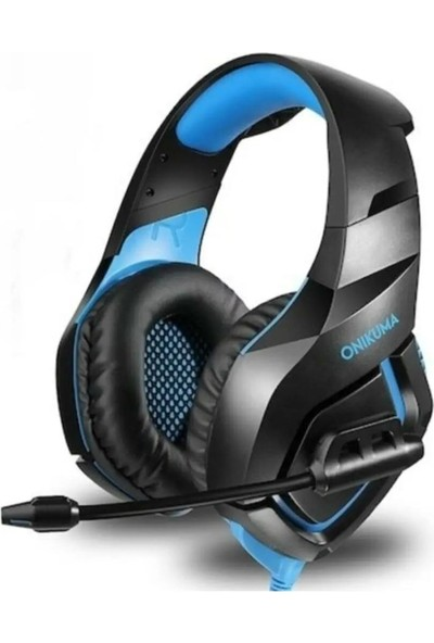 Mobitell Onikuma K18 Mikrofonlu Mavi Ledli Oyuncu Kulaklığı