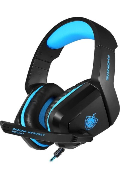 Mobitell H-1 Mavi Mikrofonlu Profesyonel Oyuncu Kulaklığı