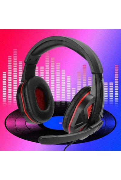 Mobitell SEZ-881 Kırmızı Mikrofonlu Profesyonel Oyuncu Kulaklık