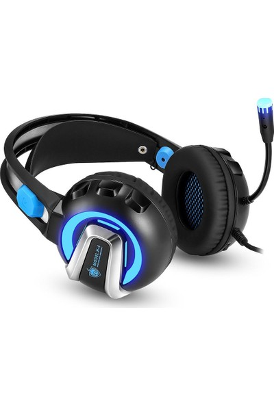 Mobitell H-4 Mavi Mikrofonlu Profesyonel Oyuncu Kulaklığı