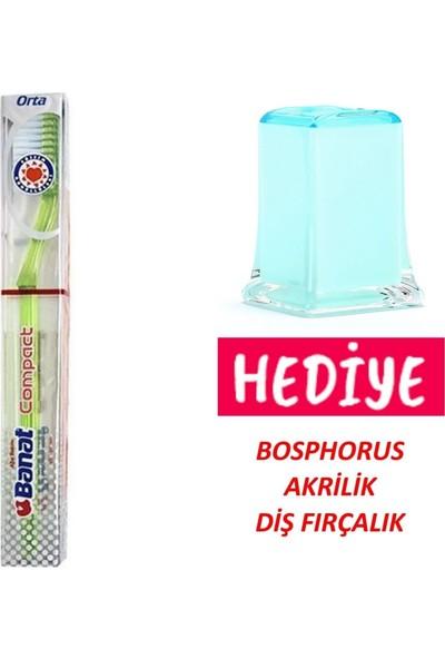 Banat Compact Diş Fırçası,akrilik Diş Fırçalık