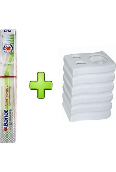 Banat Compact Diş Fırçası,seramik Diş Fırçalık