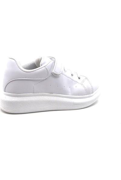 Cool Beyaz Filet Cırtlı Mevsimlik Kız Çocuk Ayakkabı