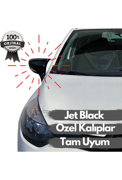 Leader Reyyzen Volkswagen Polo Yarasa Ayna Kapağı 2009-2017 Jet Black