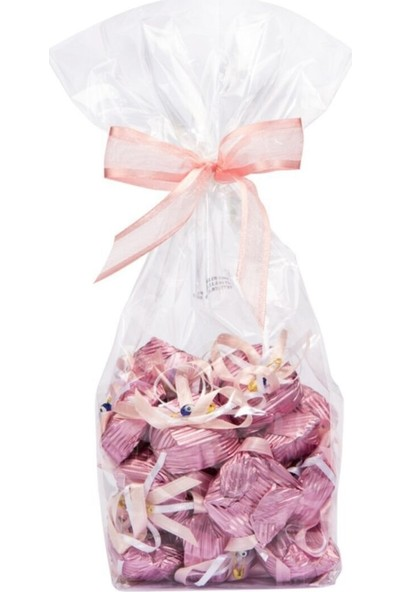 Melodi Çikolata Dekorlu Nazar Boncuk Pembe 400 gr - Kız Bebek Çikolatası