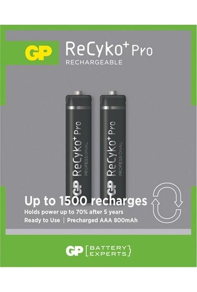 Gp Recyko Pro 2100 Serisi 2 Adet Aa + 850 Serisi 2 Adet Aaa Şarjlı Pil 4 Adet