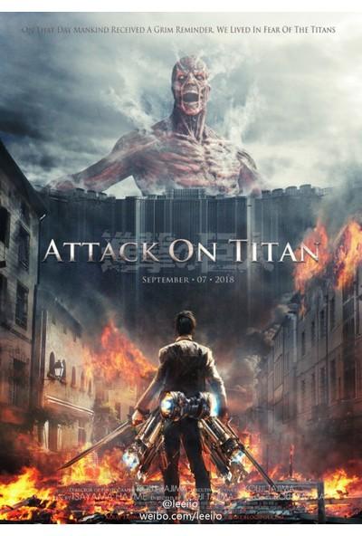 YCB Tasarım Attack On Titan Shingeki No Kyojin Anime Afiş Poster