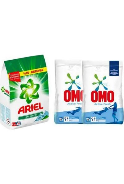 Ariel Dağ Esintisi 6 kg + Omo Active Fresh 6 kg x 2