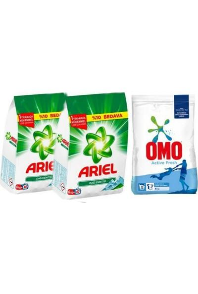 Ariel Dağ Esintisi 6 kg x 2 + Omo Acvive Fresh 6 kg
