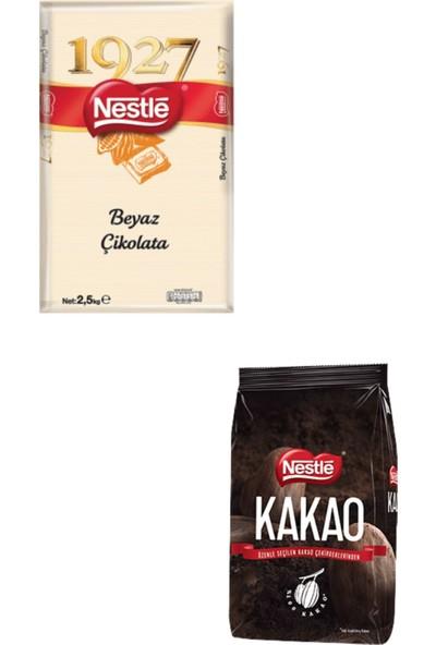 Nestle Beyaz Kuvertür 2,5 kg + Nestle Kakao 1 kg