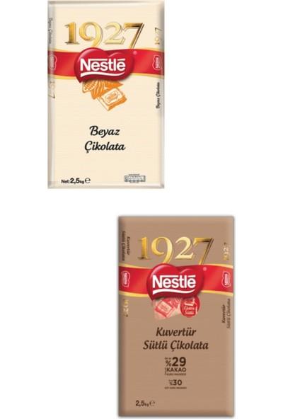 Nestle Beyaz Kuvertür 2.5kg + Sütlü Kuvertür 2.5 kg