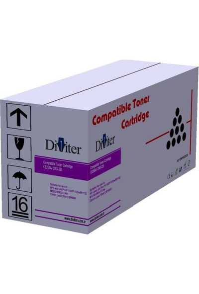 HP CF280A - 80A M401 / M425 / M425DN Siyah 2700 Sayfa Di̇vi̇ter Muadil Toner