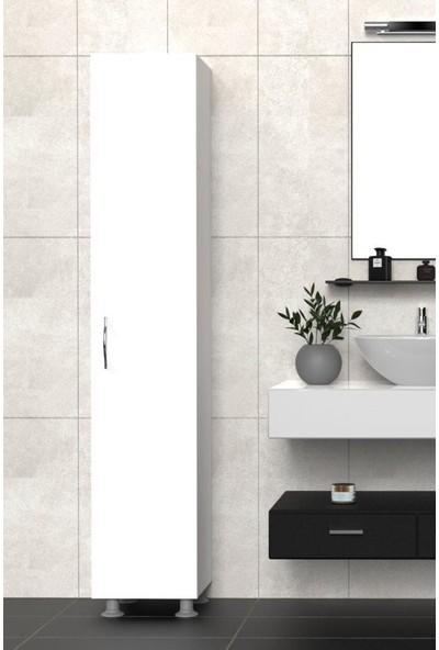 Mimilos D3 Banyo Dolabı Tek Kapılı 5 Raflı Modüler Dolap