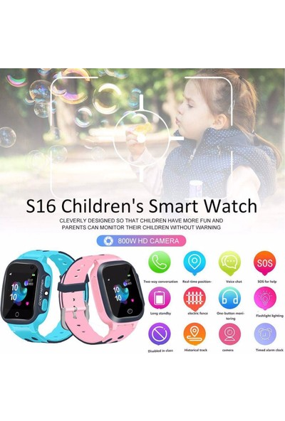 Onkatech Q500S/2021 Akıllı Çocuk Takip Saati Pembe