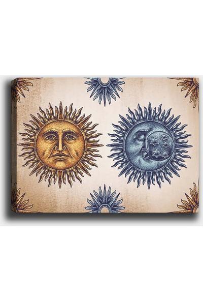 Syronix Ay ve Güneş Kanvas Tablo