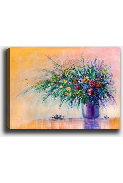 Syronix Renkli Çiçek Kanvas Tablo