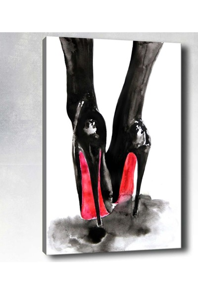 Syronix Yüksek Topuklu Ayakkabı Kanvas Tablo