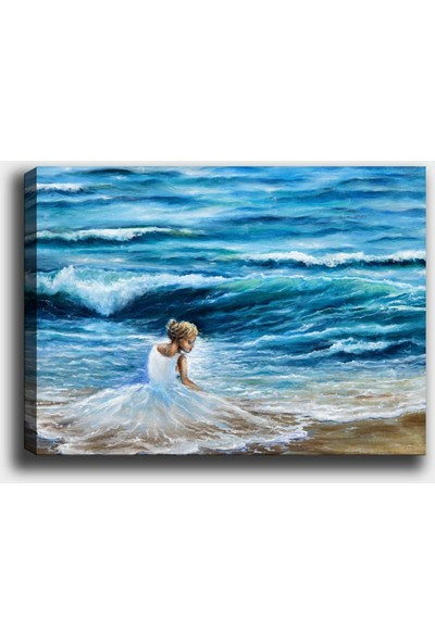 Syronix Dekoratif Deniz Kız Kanvas Tablo