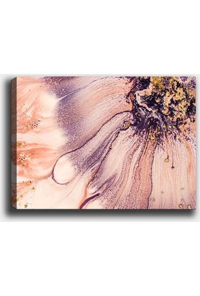 Syronix Pembe Çiçek Kanvas Tablo