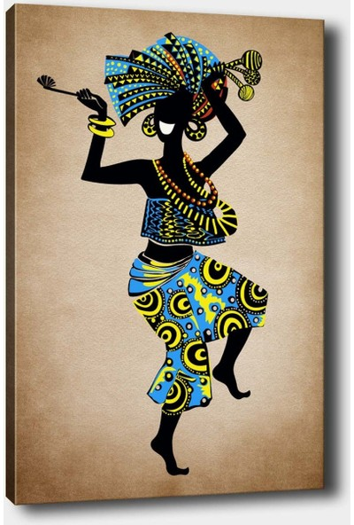 Syronix Afrikan Dekoratif Kanvas Tablo