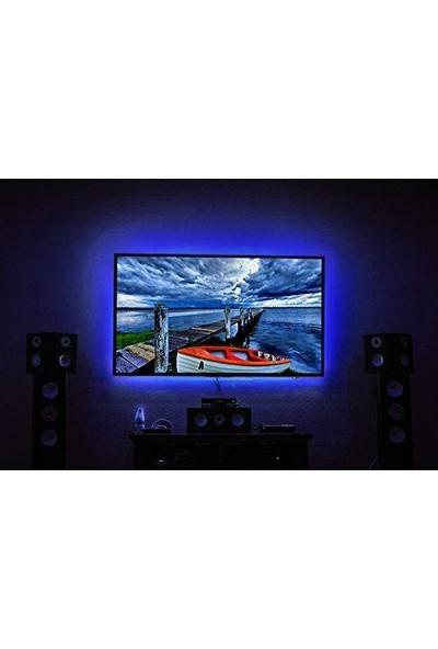 Alfa USB Şerit Led TV PC Arkası Kumandalı RGB aydınlatma 4 m