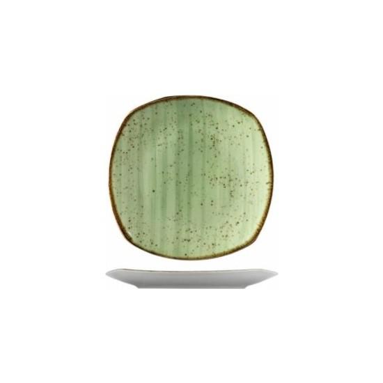 Kütahya Porselen Atlantis 25 cm. Düz Tabak Yeşil