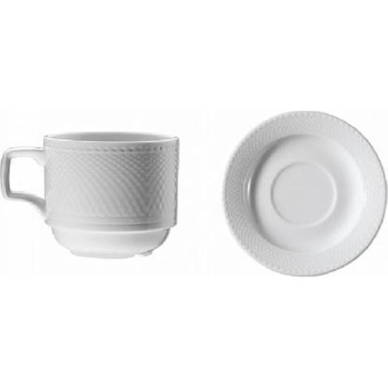 Kütahya Porselen 6'lı Set Zümrüt Çay Fincanı Tabaklı