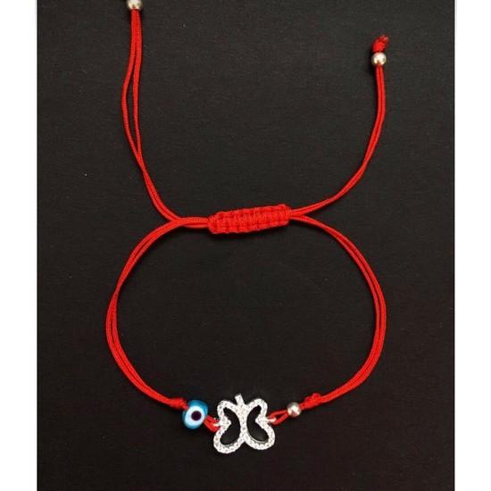 Serpil Jewellery Nazarlı Kelebek Ipli Gümüş Bileklik