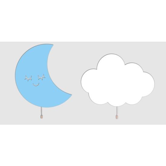 Woodcas Aydede ve Bulut Ahşap Gece Lambas 2ı