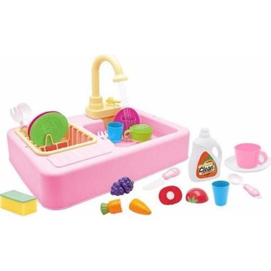Kayyum Modern Mutfak Su Ile Çalışan Lavabo Oyuncağı Pembe 7010