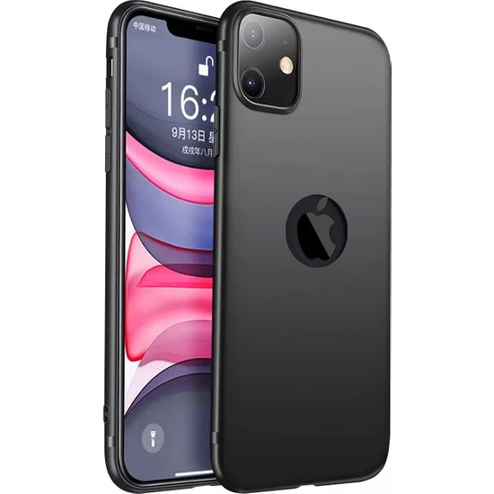 CepStok Apple iPhone 11 Kılıf Ultra Ince Tıpalı Siyah Silikon