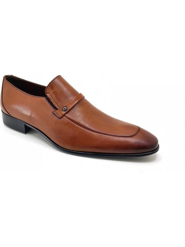 1171 Oskar Hakiki Kösele Erkek Ayakkabı-Taba