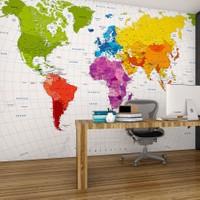 Plustablo Siyasi Dünya Haritası Duvar Kağıdı