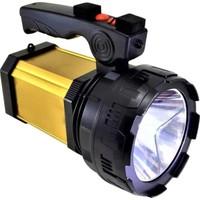 Yopigo 8100-YP 25W Ultra Güçlü Şarjlı El Feneri Projektör (Sos + Powerbank + USB Çıkış + Yan Aydınlatma)